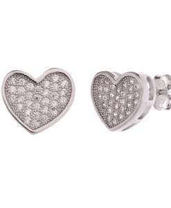 CZ Heart Shaped Studs