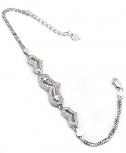 CZ Triple Heart Bracelet