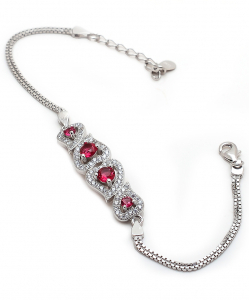 CZ Beautiful Red Bracelet