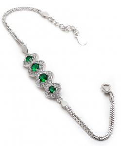 CZ Green Bracelet