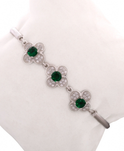 Beautiful CZ Green Bracelet
