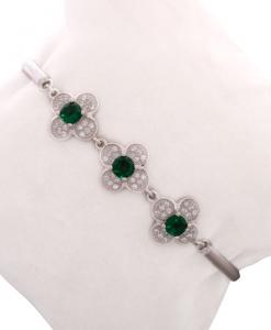 Beautiful CZ Green Bracelet