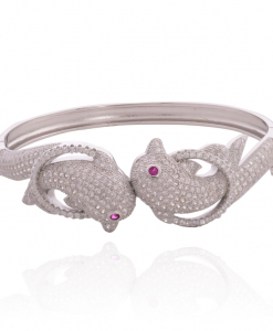Sleek CZ Fish Bangle