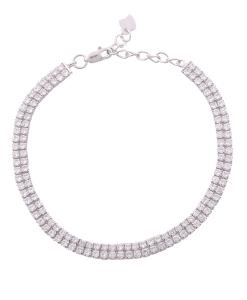CZ Double Line Bracelet