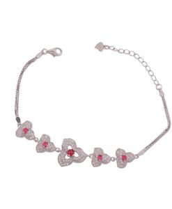 CZ Red Stone Bracelet