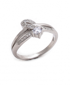 CZ Solitaire Ring