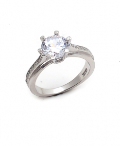CZ Engagement Solitaire Ring