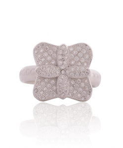 Cubic Zirconia Simple Flower Ring