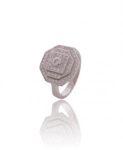 CZ Layered Ring