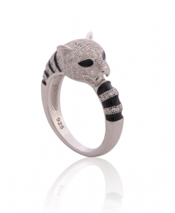 CZ Black tiger Ring
