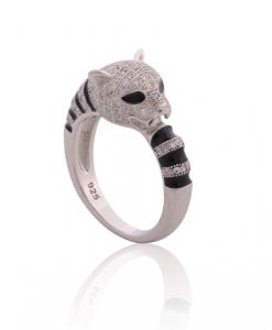 CZ Black tiger Ring