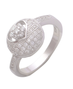 Beautiful CZ Ring with Circle on Top