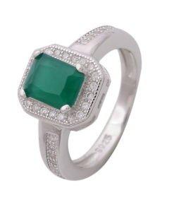 CZ Green Stone Ring