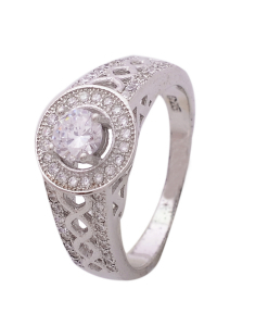 CZ Solitaire Engagement Ring