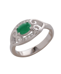CZ Beautiful Green Ring