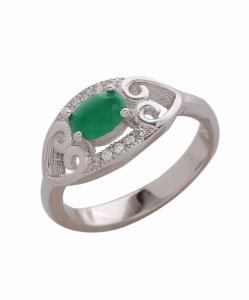 CZ Beautiful Green Ring