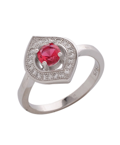 Beautiful CZ Red Ring