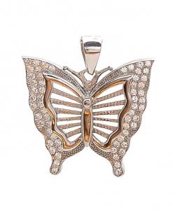 CZ Butterfly Pendant
