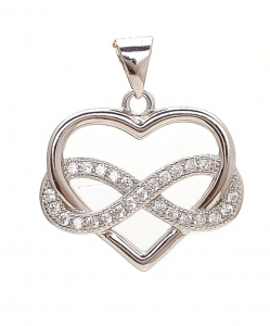CZ Tangled Heart and Eight Pendant