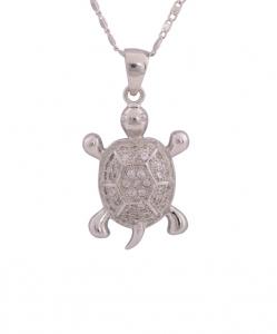 CZ Tortoise Pendant