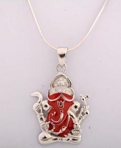 CZ Ganesha Pendant