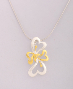 CZ Yellow Butterfly Pendant
