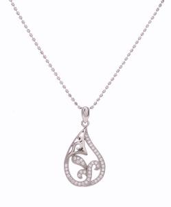 CZ Beautiful Pendant in Silver Chain