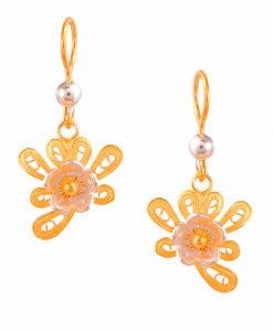 Filigree Two Tone Butterfly Earring