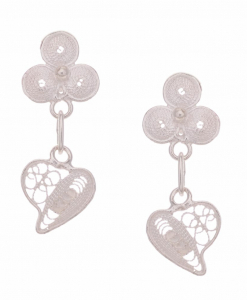 Filigree Hanging Heart Earring