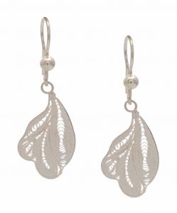 Filigree leaf Hanging Earring