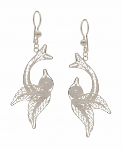 Filigree Fish hanging Earring