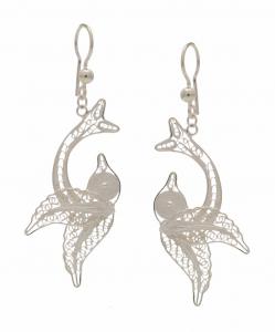 Filigree Fish hanging Earring