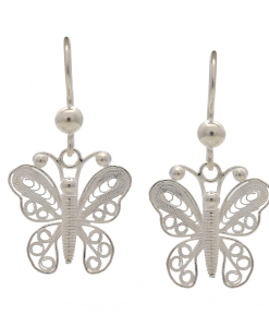 Filigree Butterfly Hanging Earring