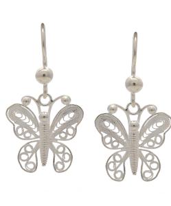 Filigree Butterfly Hanging Earring
