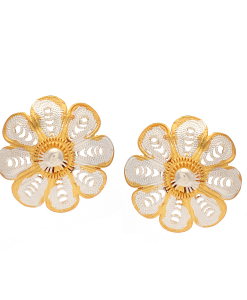 Filigree Two Tone Flower Studs