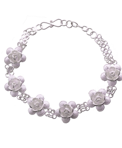 Filigree Flower Single Tone Bracelet