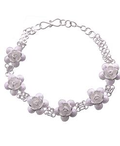 Filigree Flower Single Tone Bracelet