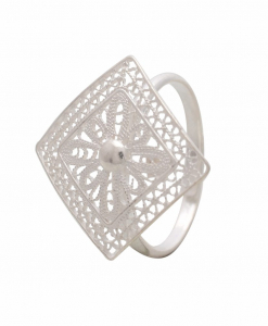 Filigree Square Ring