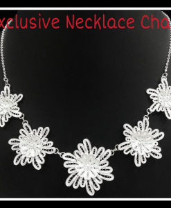 Beautiful Filigree  Flower Necklace Chain