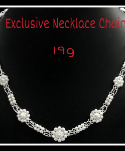 Filigree Exclusive Small Flowers Necklace Chain