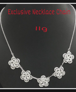 Filigree Exclusive Five Flower Necklace Chain
