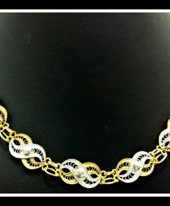 Filigree Exclusive Two Tone Necklace