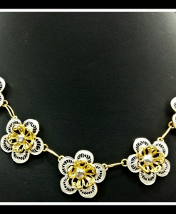 Filigree Exclusive Two Tone Flower Necklace