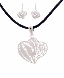 Designer Filigree Pendant Set
