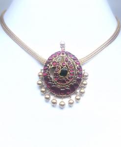 Red Kundan Choker Necklace