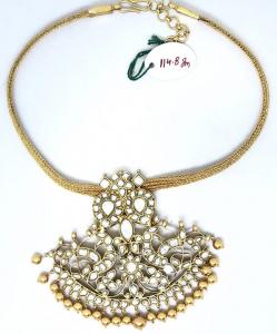 Golden Silver Kundan Neckpiece