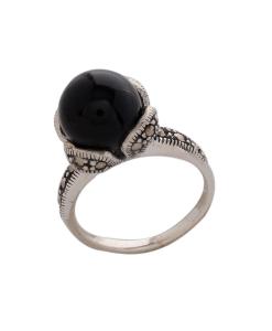 Marcasite Black Stone Ring