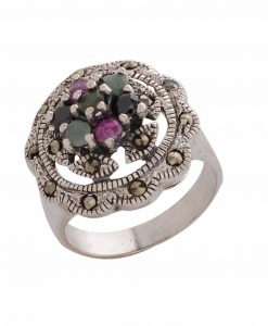 Marcasite Multicolor Ring