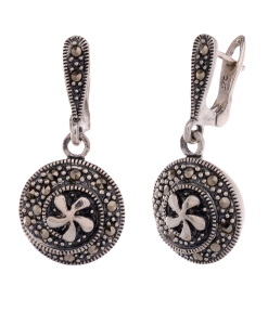 Marcasite Round Hanging Earring