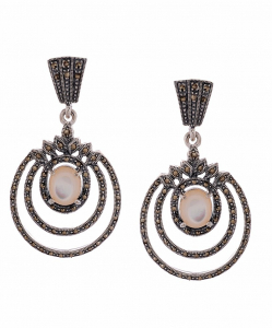 Marcasite Beautiful Circles Earring